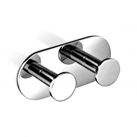 DW TB KHAK2 Self-Adhesive Double Bathroom Hook in Chrome