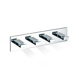 DW BK KHAK4 Self-Adhesive Quadruple Bathroom Hook in Chrome