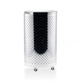 DW 118 RD Laundry Basket in Polished Stainless Steel