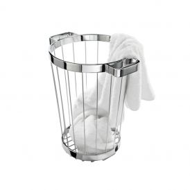 DW 222 Laundry Basket in Chrome
