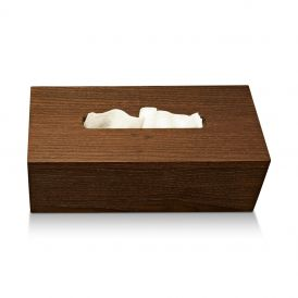 DW WO KBE Tissue Box in Thermo-Ash Wood