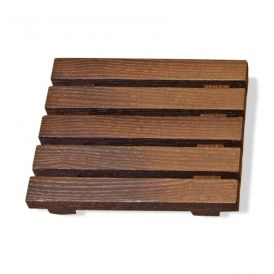 DW WO STSE Soap Dish in Thermo-Ash Wood