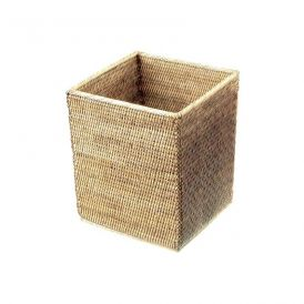 DW BASKET QK Waste Basket in Rattan