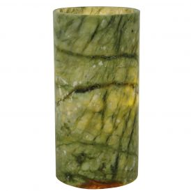 Cylinder Jadestone Green Flat Top Candle Cover