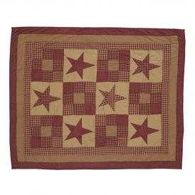 Ninepatch Star Quilted Throw by Ashton & Willow
