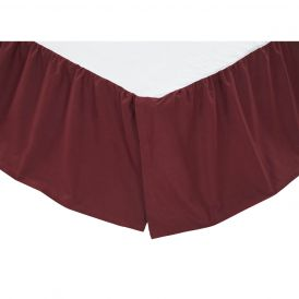 Solid Burgundy Bed Skirt by Ashton & Willow