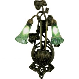 Green Pond Lily 2 Light Wall Sconce