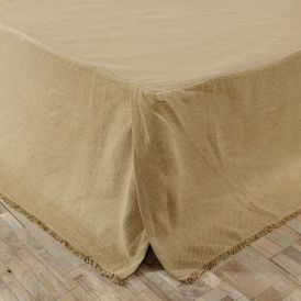 Burlap Natural Fringed Bed Skirt by Ashton & Willow