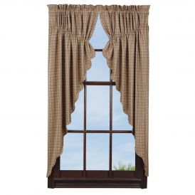 "Millsboro Prairie Curtain Scalloped Lined, Set of 2, 63"" x 36"" x 18"""