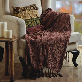 Berkeley Chenille Jacquard Woven Throw by Lasting Impressions
