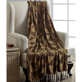 Kendrick Chenille Jacquard Woven Throw by Lasting Impressions