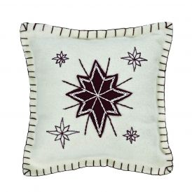 North Star Decorative Holiday Pillow