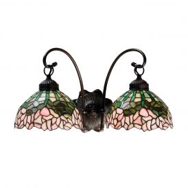 Cabbage Rose 2 Light Wall Sconce