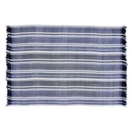 "Huron Chambray Stripe Chenille Throw 70"" x 55"""