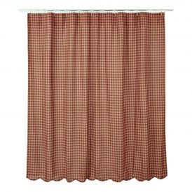 """Check Scalloped Shower Curtain 72"""" x 72"""""""
