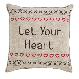 "Merry Little Christmas Pillow Let Your Heart, Set of 2, 12"" x 12"""