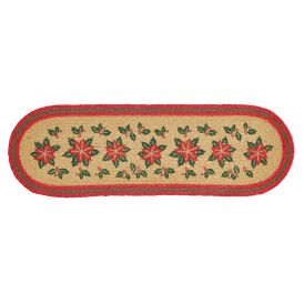 "Poinsettia Jute Stair Tread Latex 27"" x 8.5"""