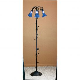 Blue Pond Lily 3 Light Floor Lamp