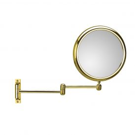Doppiolo 40-2 Two Arm Gold Magnifying Mirror 3x