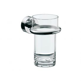 Rondo2 4520.001.00 Wall Mounted Tumbler in Clear Crystal Glass