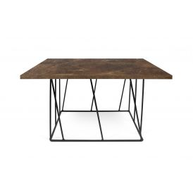 Helix 30x30 Coffee Table Black Lacquered Steel
