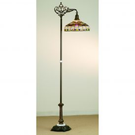 Tiffany Edwardian Bridge Arm Floor Lamp