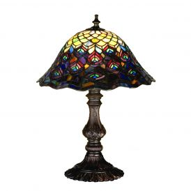 Tiffany Peacock Feather Accent Lamp