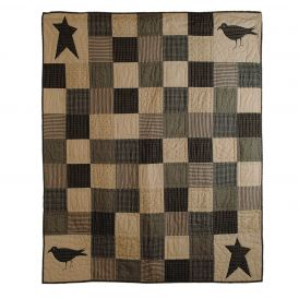 Kettle Grove Crow and Star Throw by Lasting Impressions