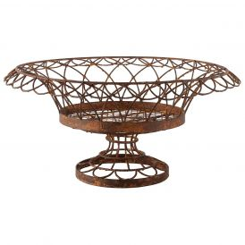 Large Round Iron Petal Basket, Set of 2