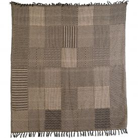 "Sampler Black Tan Throw Woven 60"" x 50"""
