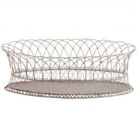 Long Oval Iron Basket, Set of 2
