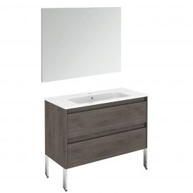 Ambra 100F Pack 1 Free Standing Bathroom Vanity with Mirror