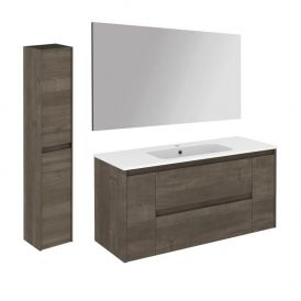 Ambra 120 Pack 2 Complete Vanity Unit with Column and Mirror