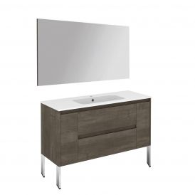 Ambra 120F Pack 1 Free Standing Bathroom Vanity with Mirror
