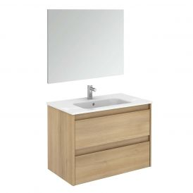 Ambra 80 Pack 1 Complete Vanity Unit with Mirror