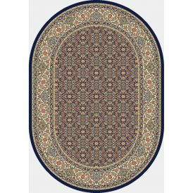 Dynamic Rugs Antique Garden 57011-3464 Navy Oval Rug