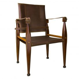 Bridle Leather MF122 Campaign Chair