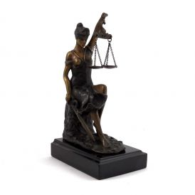 Seated Lady Justice Sculpture