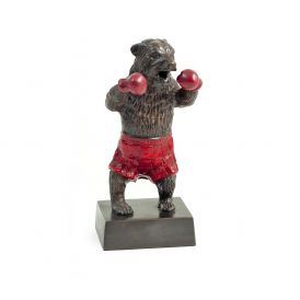 Boxing Bear sculpture