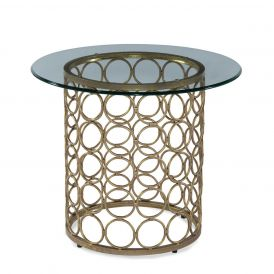 Carnaby Round Gold End Table Base
