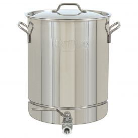 Stainless Steel 16 Gallon Stockpot with Spigot and Lid