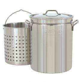 Stainless Steel 44 Quart Steam/Boil/Fry Stockpot with Lid and Basket