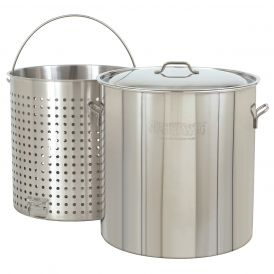 Stainless Steel 102 Quart Boiler with Lid and Basket