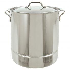 Stainless Steel 10 Gallon Tri-Ply Bottom Stockpot with Vented Lid