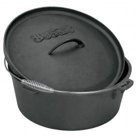 Cast Iron Seasoned Dutch Oven with Lid