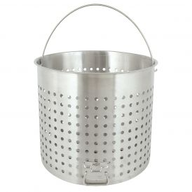 Stainless Steel 122 Quart Full Size Boiling Basket with Helper Handle