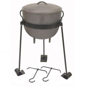 Cast Iron 4 Gallon Stew Pot