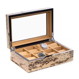 White Wood 8 Watch Case