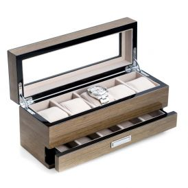 Gray Wood 5 Watch Box