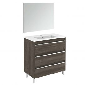 Belle 80 Pack 1 Complete Vanity Unit with Mirror